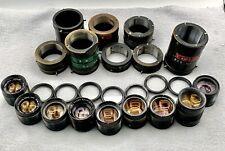 Kodak Enlarging Ektar Lot Of 9 Lenses Plus Diopters And Brass Barrels