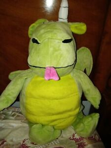 Dragon HAPPY NAPPERS PILLOW IN castle PLUSH with working doorbell in euc