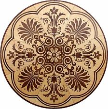 "36"" Assembled Wood Floor Medallion Inlay 406 Piece Honolulu Flooring Table"