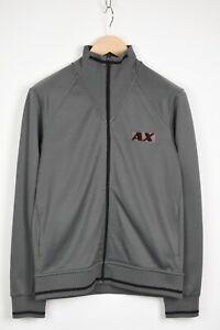 ARMANI EXCHANGE Men's SMALL Grey Full Zip Logo Jumper 35328-GS
