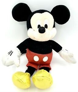 """Disney Ty Sparkle Mickey Mouse Plush Stuffed Doll Silver Gloves Gold Shoes 8"""""""