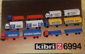 Kibri  6994    (Spur Z)   6 Stück LKW - Set -Bausatz in OVP (Neuware)