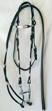 Western Poco Show Horse Bridle w/ Reins & Bit - Silver Trim - Black Leather New