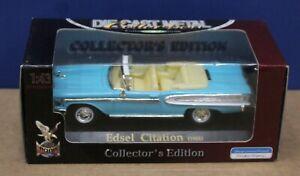 Yatming 94243 Road Signature 1958 Edsel Citation Conv Light Blue 1:43 MIB Sealed