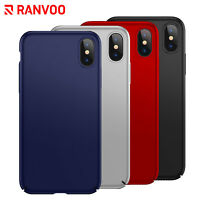 For iPhone X Case Ultra Slim Thin Hard Shockproof Hybrid Bumper RANVOO Cover