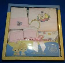 Precious Moments Baby Girl 5 Pc Gift Set Pink & White Precious Beginnings