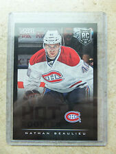 13-14 Panini Score Hot Rookies RC #604 Black Ice Border SSP NATHAN BEAULIEU