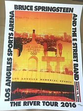 Bruce Springsteen Los Angeles 3/15 2016 River Tour Ltd Poster Print Rare #26/450