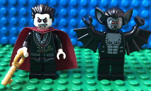 Bat And Vampire Count Dracula Minifigure Lego Lot Of Monsters