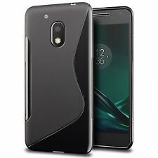 S CURVE Soft Gel TPU Case Cover For Motorola Moto G4 Plus | G4 Play