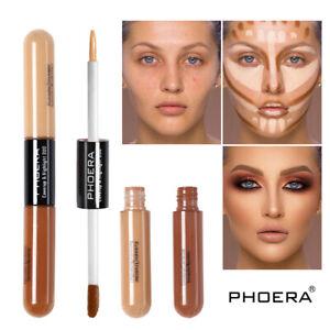 Phoera Foundation Makeup Full Coverage Liquid Base Brighten Long Lasting Shade w