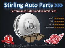2013 2014 for Chevrolet Volt Brake Rotors and Ceramic Pads Rear w/292mm Rotor