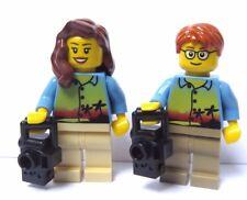 Lego Male Female Boy Girl  Holiday Maker Photographer Minifigure Figure & Camera