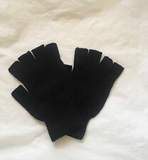 Winter Black Fingerless Warm Gloves Soft