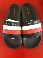 !!New With Box!! Tommy Hilfiger Women's Dulce sandals Navy Multi Size 8