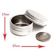 50 x 10ml aluminium Empty Cosmetic Screw Top Pots / Jars / Tins / lip balm jfa50