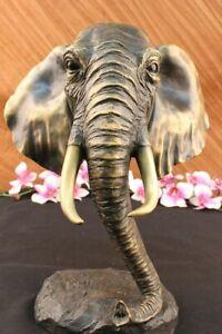 Vintage Große Bronze Elefant Skulptur Von A.Barye Schöne Kunst Teile Figur