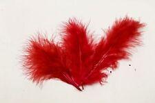 20 plumes de décoration rouge, décoration de mariage, scrapbooking.