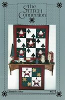 SANTA IS A STAR Christmas Wall Quilt Pattern by THE STITCH CONNECTION Rare OOP
