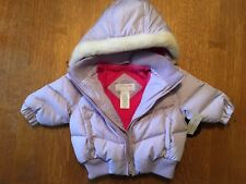 NEW Toddler Girl Size 12 months Lavender Winter DOWN Jacket