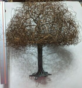 Copper wire tree - flexible to change shape - about 11 inches tall