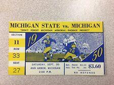 Michigan vs. Michigan State 1950 Football Ticket Stub- RARE!