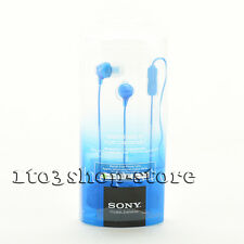 Sony MDREX15AP In-Ear Buds Earbuds Headphones Headset w/Mic Remote (Blue) NEW