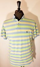Polo By Ralph Lauren Mens Polo Shirt Striped Short sleeve Rugby No size tag USA
