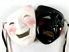 About Face Clay Art Comedy Tragedy Mask Porcelain Ceramic
