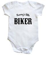 Mummy/'s little biker baby vest boys girls
