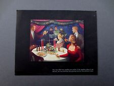 Vintage Yvonne Pene Du Bois Xmas Greeting Card At Home with Good Cheer, Stunning