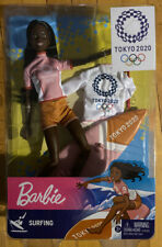 Barbie Tokyo 2020 Olympics Surfing Doll Gold Medal In Hand Ready to Ship Rare