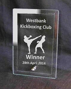 Personalised KickboxingTrophy, Award, Sprot, Your Club  Logo