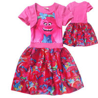 Trolls Bright Pink A-Line Short-Sleeved Poppy Dress - Sealed NWT - Ages 3-8 yrs