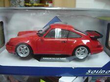 """Solido 1:18 S1803402 Porsche 911 Turbo 3.6 Typ 964 1993 Indischrot """"Neu""""(109)"""
