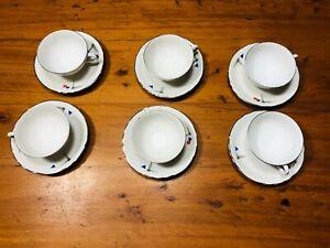 Richard Ginori servizio tazze caffè thè porcellana fine modernariato