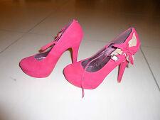 Escarpins/chaussures femme framboise 36 Belle women avec bride