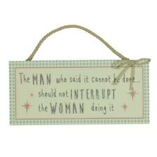 Should Not Interrupt The Woman Hanging Plaque Gift Love Life Range