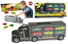 Macchine Macchinine veicolo camion con 6 auto Maxi Truck Gioco Bambini