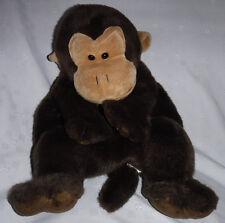 """Chimpanzee Monkey Backpack 19"""" Zippered Plush Soft Toy Stuffed Animal"""