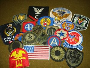 Lot of Military and Police Patches