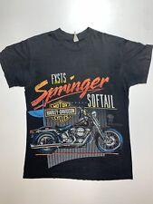 VINTAGE HARLEY DAVIDSON The Springer T-Shirt - Men's Size M SoftTail FXSTS 1989