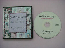 DEBBI MOORE Glitter & Glitz MAGIC MOMENTS Craft  CD-ROM 100 elements Ex Con