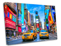 New York Color Taxi Street Art Canvas Wall Art Picture Print
