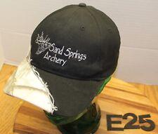 SAND SPRINGS ARCHERY CRAIG COLORADO HAT BLACK EMBROIDERED STRAPBACK VGC E25