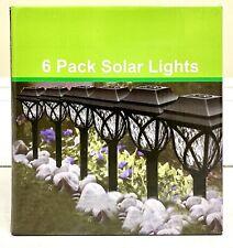 6 pack Solar Garden LED Posts lights.
