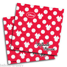 20 Disney Minnie Mouse Classic Red Polka Dots Party 33cm Paper Napkins