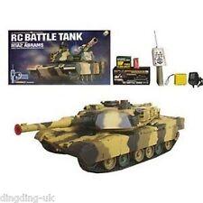 Radio Remote Control M1A2 Abrams Battle Tank RC RTR 1/24 BB Shooting UK