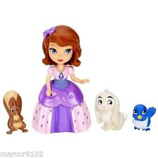 Disney Sofia The First-Sofia and Animal Friends Doll 4 Play Pieces Playset New