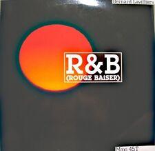 BERNARD LAVILLIERS r&b rouge baiser/if/promesses d'un visage MAXI PROMO 1988 NM+